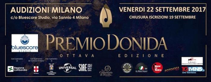 logo Premio Donida audizioni Milano